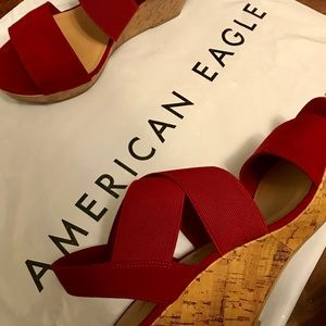 Red American Eagle wedges